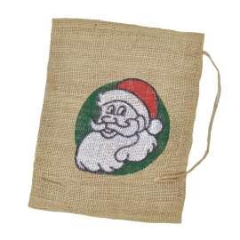 Jute zakken Kerstman 30 x 40 cm (per stuk)