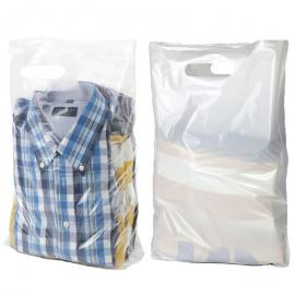Plastic draagtassen (per 50 stuks)