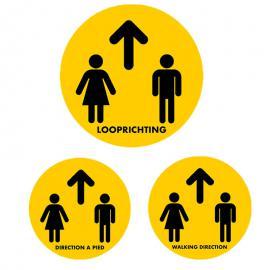 Vloersticker looprichting (NL,EN & FR)
