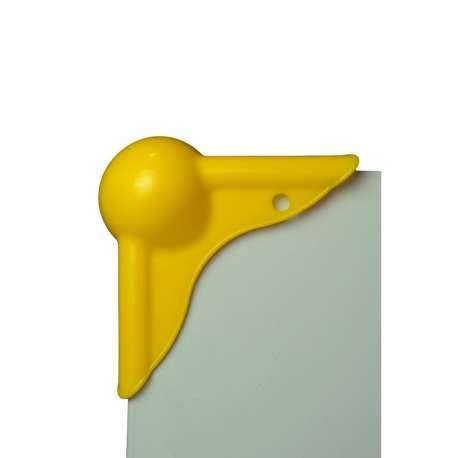 Kunststof pallethoeken geel